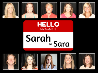 Hello my name is Sarah